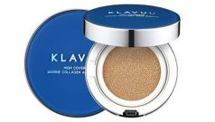 Phấn Nước Klavuu Blue Pearlsation High Coverage Marine Collagen Aqua Cushion (màu xanh)
